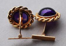 Manschettenknöpfe, 750-er Gold, feine Amethyst Cabochons