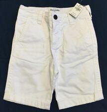 NWT!!  Bright White Boys Twill Shorts By Abercrombie Kids Sz 8