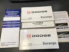 2008 DODGE DURANGO OWNERS MANUAL AND CASE