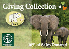 Save Elephants Tie Tack I Love Elephants Lapel Pin Mima Oly 10% Donated