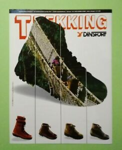 Pubblicita'Advertising Originale Vintage DINSPORT trekking calzature 1986 (A25)