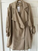 Mango Casuals Flown Trench Jacket Beige Uk Size Small New RRP £49.99