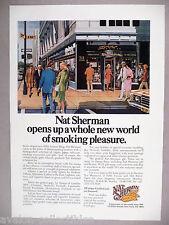 Nat Sherman PRINT AD - 1977 ~ tobacco, tobacconist, 5th Avenue