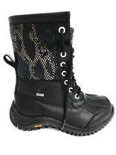 UGG Australia Snakeskin Boots Size 5 Black Waterproof New