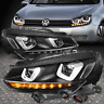 [LED DRL+SEQUENTIAL TURN SIGNAL]FOR 10-14 VW GOLF GTI PROJECTOR HEADLIGHT LAMPS