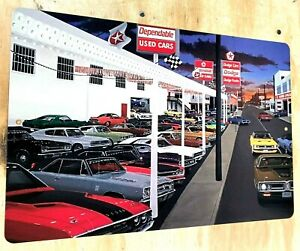 "Mr Norms Grand Spaulding Dodge Used Car Lot Aluminum Sign 12""x18"""