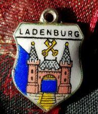 Vintage Bettelarmband Anhänger Wappen Charm LADENBURG RHEIN NECKAR (2)