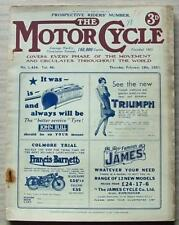 The MOTOR CYCLE Magazine 19 Feb 1931 PROSPECTIVE RIDERS No JAMES VILLIERS TEST