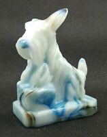 Boyd JB SCOTTIE - Blue White Slag Glass J.B. Scotty Dog Millennium Surprise 2000