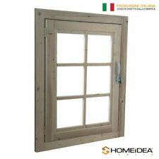 Finestra in legno apribile per casetta 61x81 cm con telaio maniglia e ferramenta