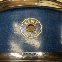 Vintage LATE 50's KENT SNARE 5X14 Drum Maple Wood Blue Sparkle Beautiful Collect