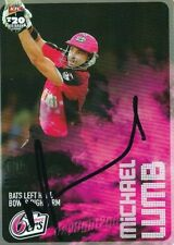 ✺Signed✺ 2014 2015 SYDNEY SIXERS Cricket Card MICHAEL LUMB Big Bash League