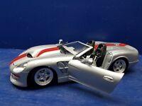 Burago 1999 Shelby Series 1 1:18 Die Cast Silver/Red Stripes Very Nice