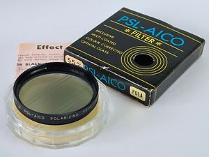 PSL-AICO 55mm POLA Polarizing Filter With Box & Keeper, Excellent Condition