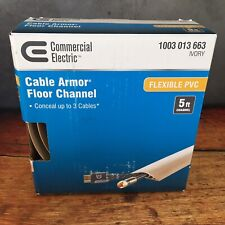 Commercial Electric 5 Foot Cable Armor Floor Channel Flexible PVC Ivory