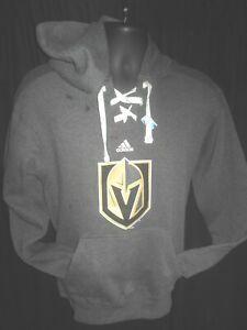 Las Vegas Golden Knights NHL Men's Adidas Hooded Pullover Sweatshirt Small