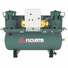 FS-Curtis CA7.5 7.5-HP / 15-HP 120-Gallon UltraPack Two-Stage Duplex Air Comp...