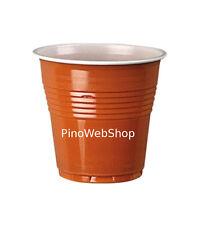 50 Bicchieri/Bicchierini di Plastica DOPLA da Caffè bicolore 80cc NUOVI