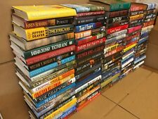 Lot of 100 Action Mystery Romance Thriller Action Literature Hardcover HCDJ Book