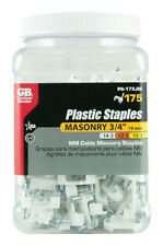 Gardner Bender  3/4 in. W Plastic  Insulated Cable Staple  175 pk