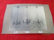 Bildtafel - altes Foto auf Pappe - 3 extrem seltene Lampen - wohl um 1900  /S54