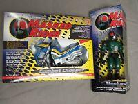 Masked Rider Deluxe Action Figur + Combat Chopper - Vintage Bandai Saban '95