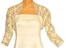 Ivory Lace 3/4 Sleeve Bolero Size 10