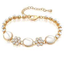New Fashion Women Jewelry Gold Plated Crystal Rhinestone Opal Bracelet Bangle