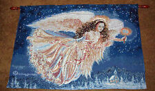 Guiding Angel ~ Christmas Angel Fiber Optic Holiday Tapestry Wall Hanging