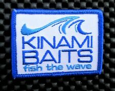 """Kinawi Baits Embroidered Patch Fish The Wave Angler Jig Bait Lure 2 1/2"""" x 2"""""""