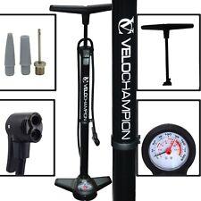 Velochampion Pro High Pressure Bike Floor/Track Pump Presta/Schrader in Black