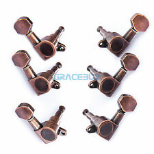 Electric Acoustic Guitar String Tuning Pegs Tuners Red Bronze Machine Head 3R3L
