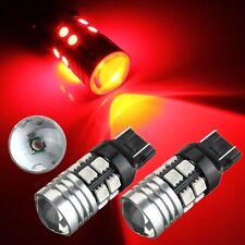 4x T20 7443/7440 12 SMD LED Ultra Red 10W High Power Brake Tail Stop Light 12V