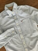 Hollister Blue White Striped Long Sleeve Oxford Button Down Front Shirt Medium
