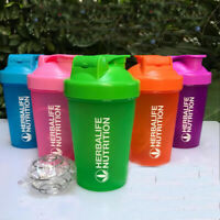 400ml Herbalife Water Bottle Shake Cup Outdoor Sports Nutrition Drinking Plastic