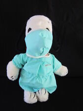 1970's MD Doctor Snoopy Plush NWHT Rare W/ Pencil Pouch Butterfly Products