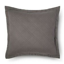 "Threshold Euro Pillow Sham Square Radiant Gray Size 26""x26"" Linen blend"