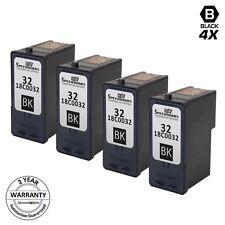 4PK Reman #32 18C0032 BLACK Inkjet for Lexmark P4330 P4350 Z816 Z818 X3330 X3350