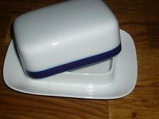 1 Butterdose klein ( für ca 125 g Butter )     Arzberg  Rand in  Kobaltblau