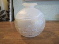 Isle of Wight Studio Glass Gold/White Globe Vase Black on Gold Triangle Sticker