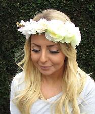 Cream Ivory Daisy Rose Flower Headband Headpiece Garland Hair Crown Boho 2085
