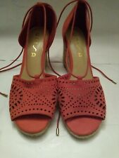 Unisa Red suede Wedge shoes 9M