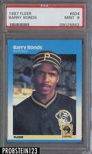 1987 Fleer #604 Barry Bonds Pittsburgh Pirates PSA 9 MINT