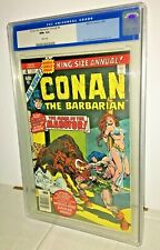 Conan the Barbarian Annual #4, CGC 9.6, White Pages