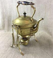 Antique Art Nouveau Brass Spirit Kettle Teapot Burner Stand William Soutter
