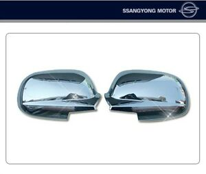 OEM Chrome Side Mirror Cover 2P for 2012 - 2018 Ssangyong New Actyon Sports