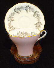 Aynsley C1663 Dusty Rose Pink & Gold Teacup and Saucer c1950s
