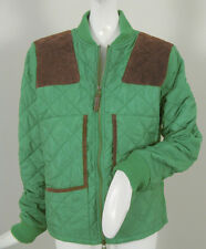 NEW! NWT! Polo Ralph Lauren Womens Quilted Jacket with Suede Trim!  L  Green