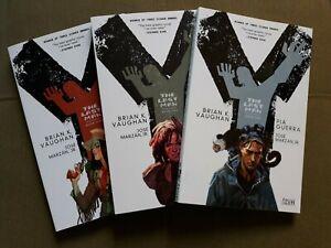 Y the Last Man lot of 3 Book 1-3 (TPB 1 2 3) B K Vaughan Guerra Marzan & Sudzuka