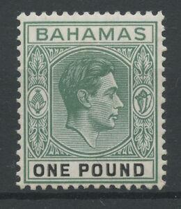 Bahamas SG157b 1951 £1 Grey-green and black (ordinary paper) Mounted mint